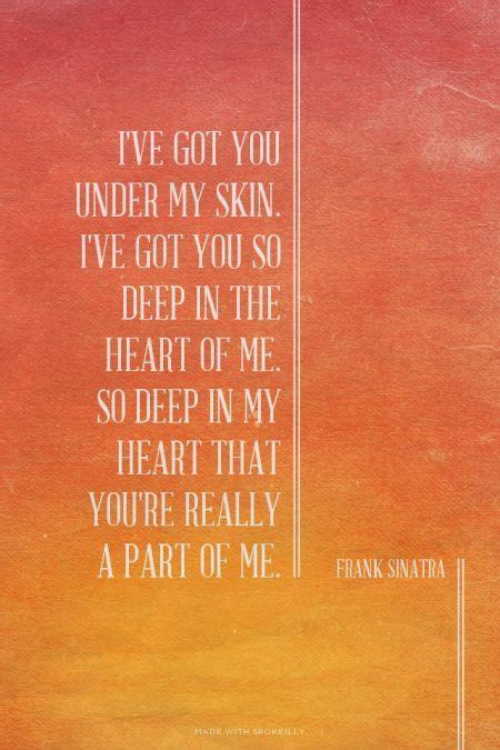 25  best ideas about Frank sinatra lyrics on Pinterest