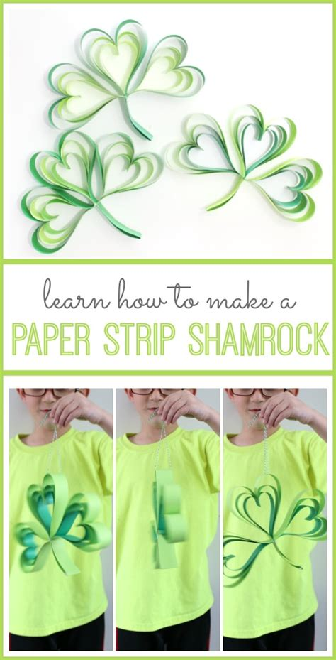How To Make Paper Shamrocks - paper shamrock sugar bee crafts