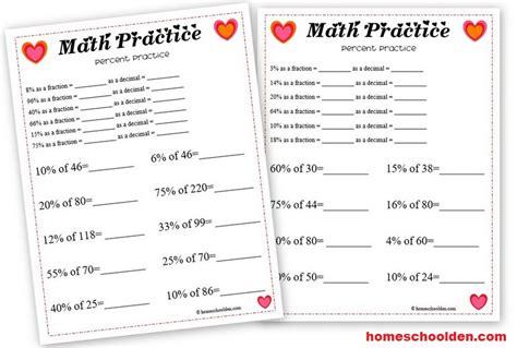 valentines day math percent worksheet homeschool den
