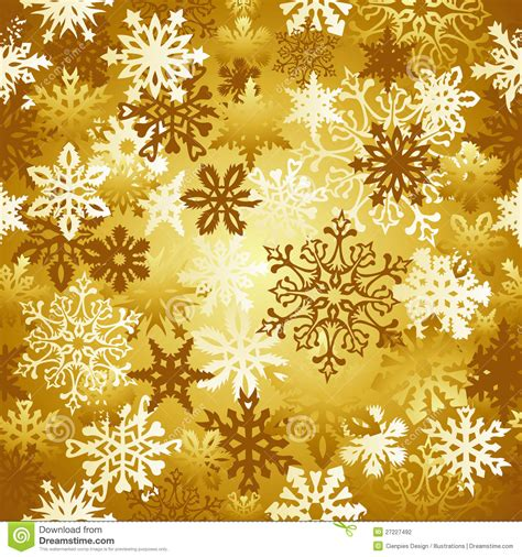 christmas pattern gold gold christmas snowflakes pattern stock vector