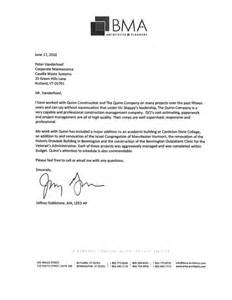 contractor recommendation letter letter of recommendation