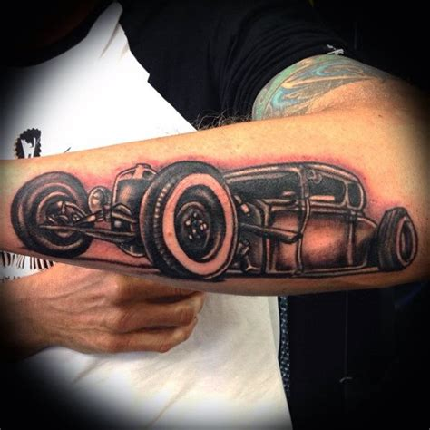 bad tattoo hot rod best hot rod tattoo mens forearm design ideas ink