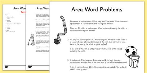 word printable area error all worksheets 187 area word problems worksheets geometry