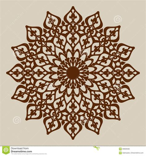 the template mandala pattern for decorative rosette stock