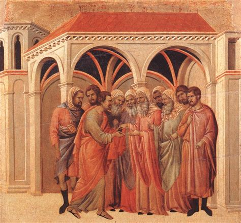 duccio betrayal of christ story pact of judas money for betrayal