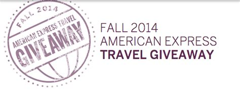 American Express Travel Giveaway - magic of miles american express fall travel sweepstakes magic of miles