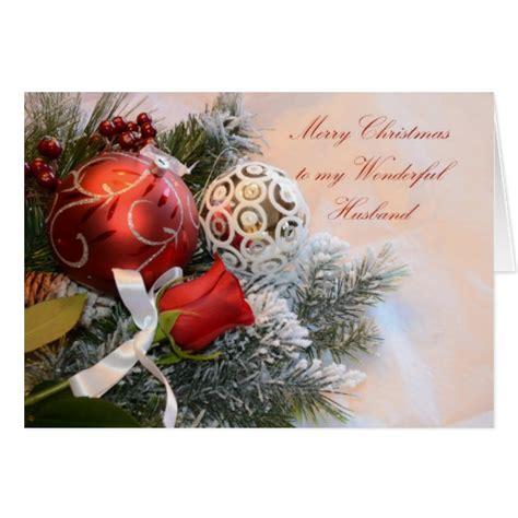 merry christmas husband greeting card zazzle
