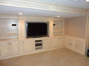 Basement Wall Cabinets Built In Entertainment Center Traditional Home Theater