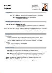 Resume Sample Quebec by 7 Curriculum Vitae Francais Curriculum Vitae Etudiant