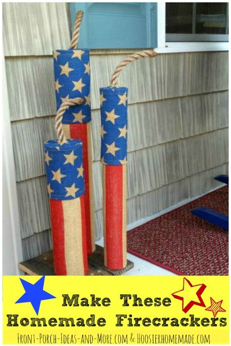 how to make home made decorations firecracker decorations light up your front porch