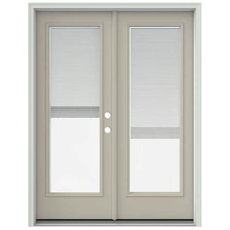 Jeld Wen Patio Doors Jeld Wen 60 In X 80 In Desert Sand Prehung Left Inswing Patio Door With Brickmould
