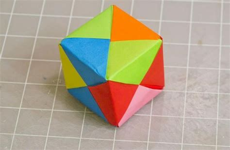 Paper Things To Make Easy - modular origami how to make a cube octahedron