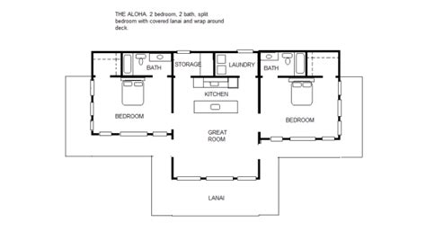 split floor plan the aloha 2 2 split bedroom floor plan