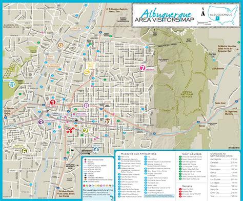 maps albuquerque albuquerque area tourist map