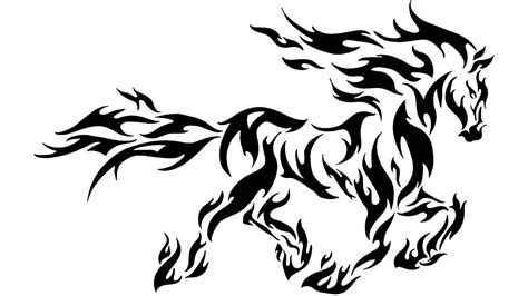 tribal horse tattoo 30 tribal tattoos images and designs