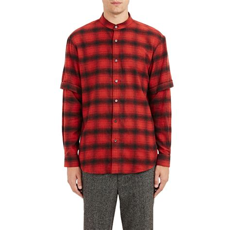 Sleeve Layered Shirt school s layered sleeve flannel shirt in