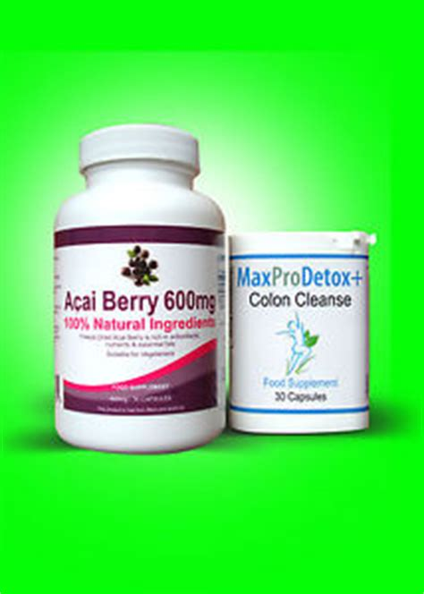 Acai Detox Cleanse by 60 Acai Berry And 30 Max Pro Colon Cleanse Detox