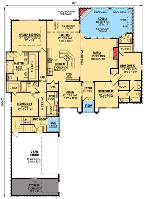 653667 french acadian four bedroom with many extras house plans floor plans home plans plan 56334sm french country home plan with extras