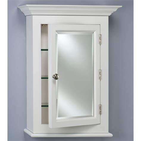 wilshire i single door bathroom medicine cabinet
