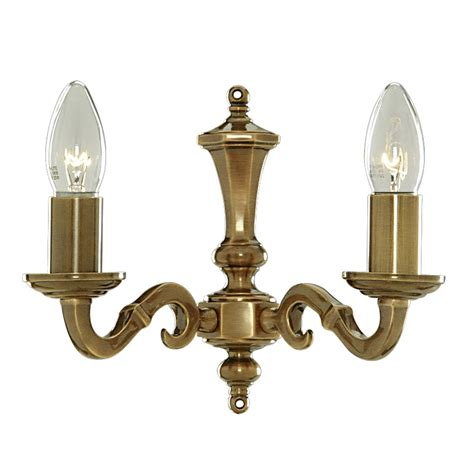 solid brass wall lights malaga wall light dual light solid brass