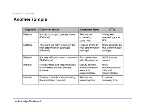 define phase voice of customer