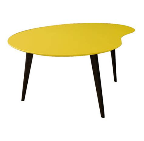 Yellow Table L Lalinde Large Coffee Table L 83cm Black Legs Yellow By Sentou Edition