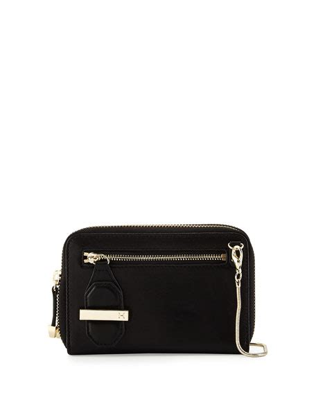 Zip Mini Shoulder Bag heritage mini zip leather shoulder bag black