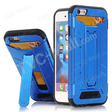 Iphone 7 Armor With Kickstand Card Holder card holder plastic tpu kickstand armor for iphone 7 4 7 inch baby blue tvc mall