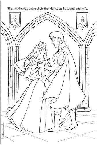 coloring pages wedding disney