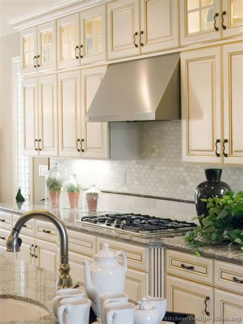 antique white kitchens images  pinterest