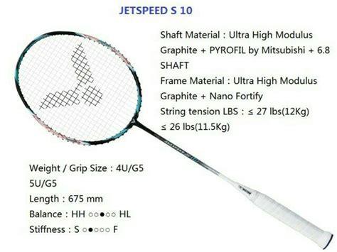 jual raket badminton victor jetspeed s 10 cv sports