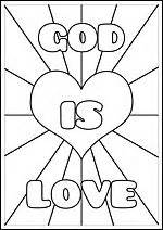 christian love coloring pages coloring pages for kids by mr adron god is love