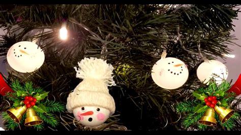 ping pong ball snowman diy christmas recycled decoration