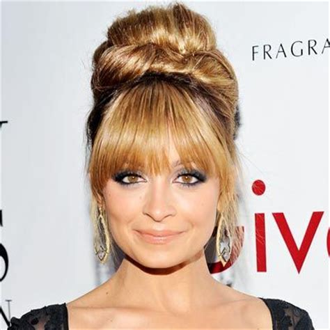 eye grazing bangs find the best bangs for your face shape nicole richie