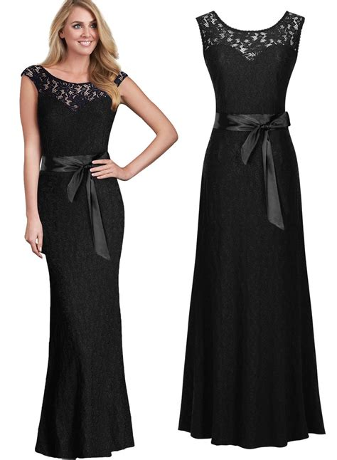 womens ballgown wedding party formal lace maxi long