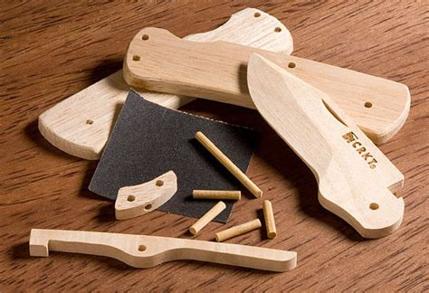 pocket knife building kits diy wooden knife