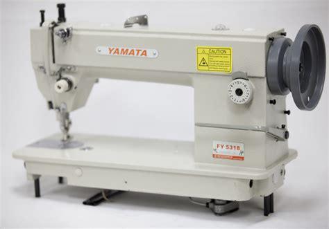 juki upholstery sewing machine yamata fy5318 walking foot top bottom feed upholstery