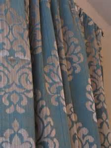 Gray And Teal Curtains Pair Of Teal With A Gray Damask Print Curtains Sale Grey Curtains Lush Livings Custom