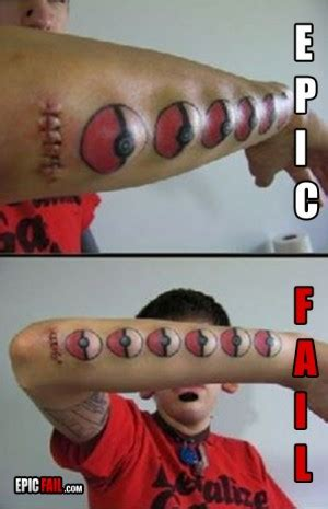 tattoo fail pokemon modifications quotes quotesgram