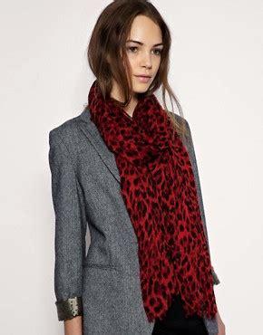 kristina mirasol asos asos oversized leopard scarf at asos