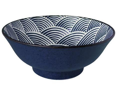 Modern Japanese Style Home Design modern blue and white japanese wave large japanese noodle bowl
