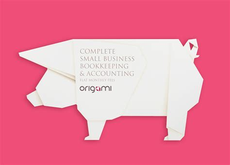 Mail Origami - origami accounting direct mail graphic design