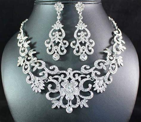 how to make rhinestone jewelry gorgeous austrian rhinestone bib necklace earrings