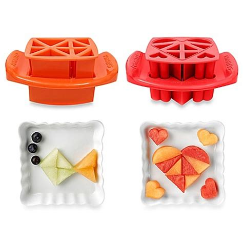 Food Cutter Set Parts funbites 174 2 shaped food cutter set in hearts orange triangles bed bath beyond