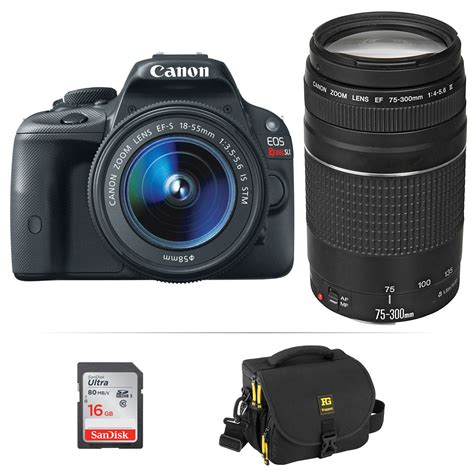 canon eos rebel sl1 dslr canon eos rebel sl1 dslr kit with 18 55mm stm and b h