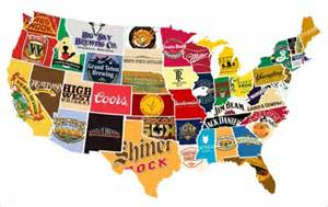 United States Beer Map by United States Alcohol Map What S The Most Popular Brand
