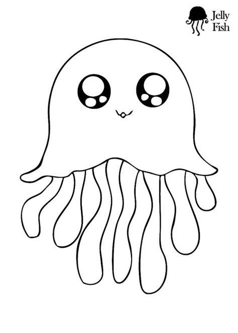 Cute Jellyfish And Seahorse Coloring Pages Big Bang Fish Jelly Fish Coloring Pages