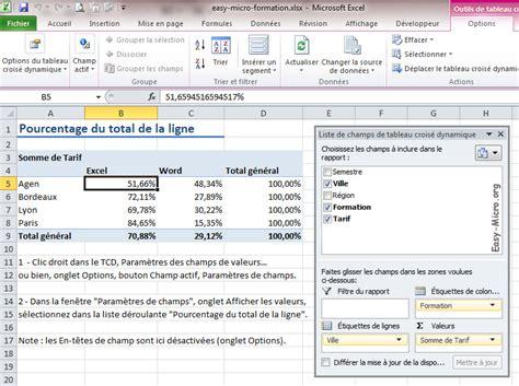 tutorial excel 2010 liste deroulante easy micro tableau crois 233 dynamique tcd en pourcentage