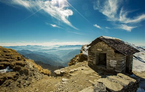 House In The Mountains free stock photo of house in the mountains with sky and