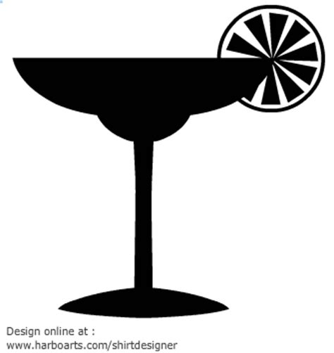 margarita clipart black and white drink silhouette clipart